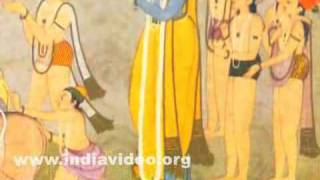 Krishna and the gopas returning at dusk after grazing cattle