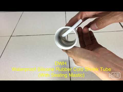 DWH Waterproof Silicone Rubber Cold Shrink Tube (With Sealing Mastic)