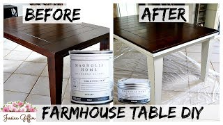 DIY FARMHOUSE TABLE MAKEOVER | MAGNOLIA HOME CHALK PAINT REVIEW