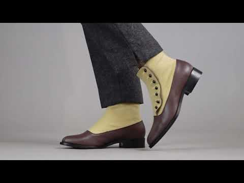 PRE-ORDER Bristol Women's Vintage Button Boots (Tan/Brown)