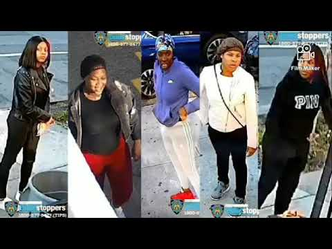 Five women wanted for robbing a cab driver in spraying the unknown substance in his eyes