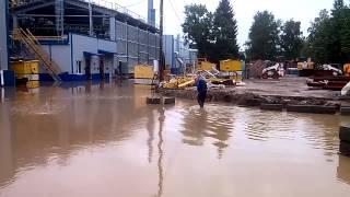 Затоп в НЗМе в городе. Кириши