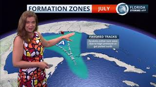 Tropical Trends: Where Storms Usually Form in July