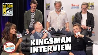 Kingsman 2 Cast Spills Secrets - LIVE in Studio (SDCC 2017)