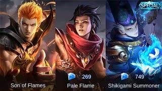 All Valir Remodel Skin Gameplay (Son Of Flames | Pale Flame | Shikigami Summoner) Mobile Legends