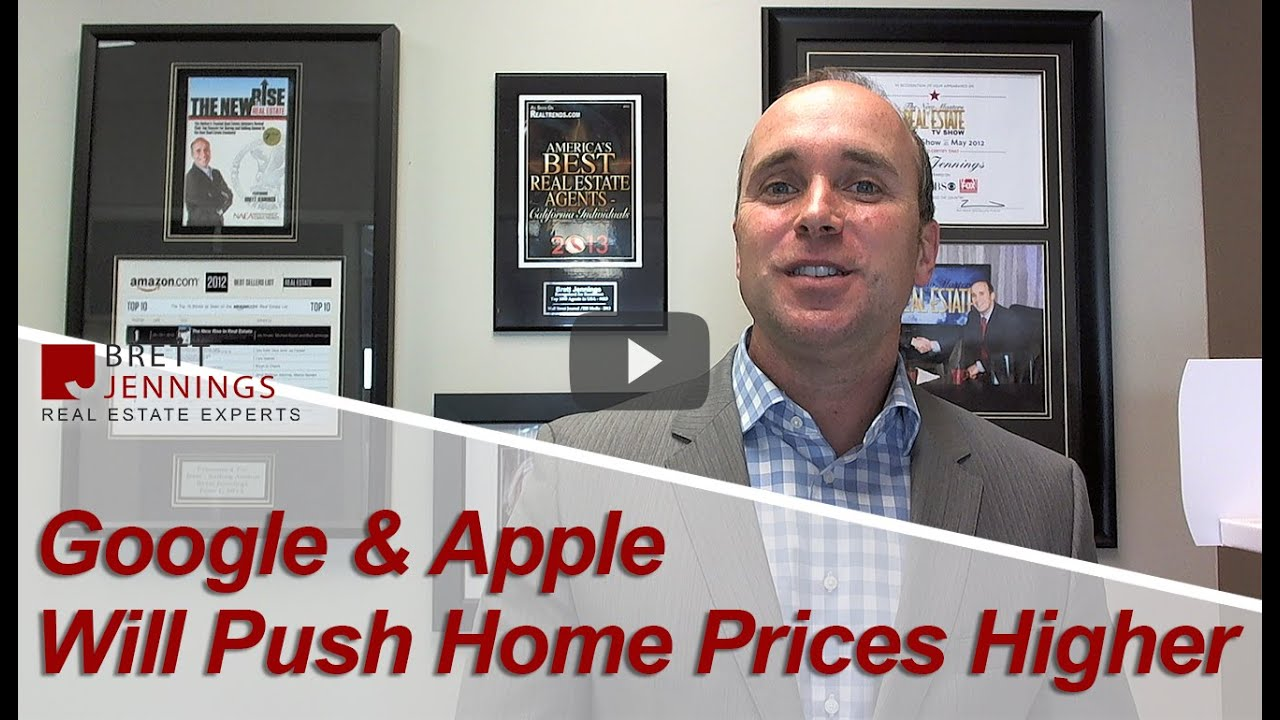 Google & Apple Pushing Home Prices Higher