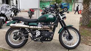 Pre-Owned 2012 Triumph Scrambler Jack Pine Special Edition At Euro Cycles Of Daytona