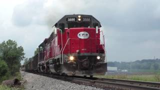 Chicago Ft Wayne and Eastern Railroad trains on the Pennsy