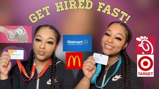 HOW TO GET A JOB AS A TEENAGER (GET HIRED RIGHT AWAY)