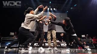 Les Twins Vs Justiciers(Kuty Rubix) BEST4 HIPHOP WDC 2019 World Dance Colosseum #WDC
