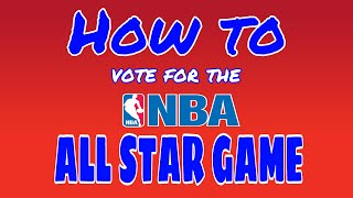 How to vote for the NBA All Star Game (tutorial)