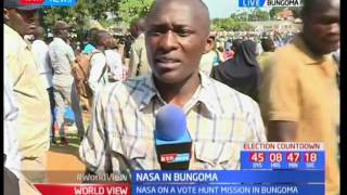 NASA takes vote hunt mission to Bungoma