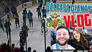SOCCER FAN & GIRLFRIEND FIRST ICE HOCKEY GAME + HONEST OPINION  |  BELFAST GIANTS VLOG