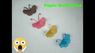 How to make Paper Butterflies | पेपर से तितली बनाने का तरीका | पेपर क्राफ्ट