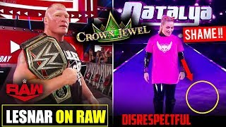 Brock Lesnar Coming RAW with WWE TITLE, Shame On Saudi Arabia Fan - WWE Crown Jewel 2019 Highlights