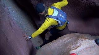 Treacherous Arizona Slot Canyon Passage