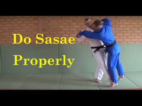 Sasae tsuri komi ashi - a video on how to do it properly