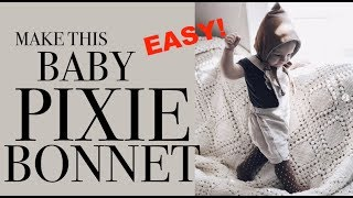 how to sew baby pixie bonnet no pattern needed easy DIY tutorial
