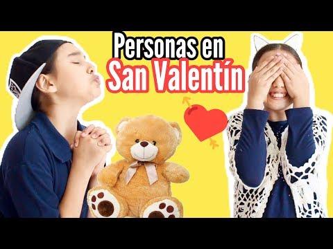 TIPOS DE PERSONAS EN SAN VALENTÍN / DÍA DEL AMOR Y LA AMISTAD - Gibby :)