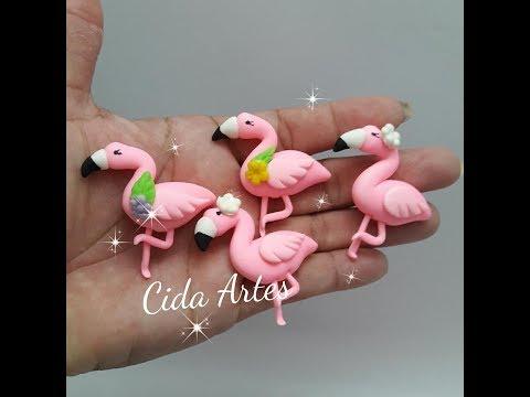 Apliques flamingos de biscuit para laços  (com moldes e sem moldes)