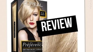L'oreal Superior Preference 9.1 Viking Light Ash Blonde | PRODUCT REVIEW
