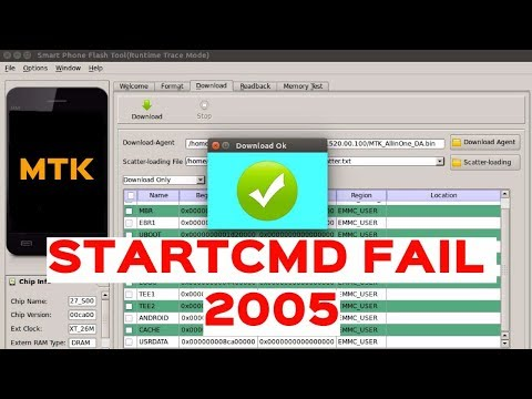 SP Flash Tool - BROM ERROR:S_BROM CMD STARTCMD FAIL 2005 - Possible