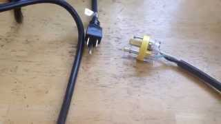 Improvised, cunning and dangerous grid tie power cable that could save your life