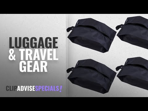 10 Best Selling MISSLO Luggage & Travel Gear [2018 ]: MISSLO Portable Nylon Travel Shoe Bags with