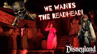 FAREWELL TO THE REDHEAD! 2018 Pirates of the Caribbean Disneyland Resort Full Ride FRONT ROW!