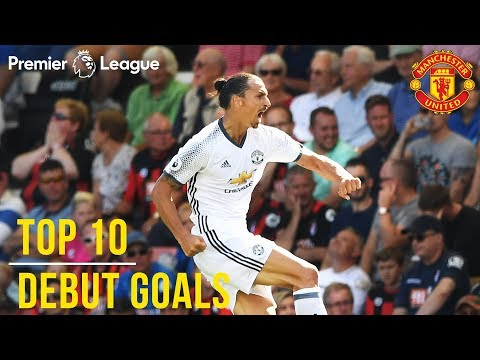 Top 10 Premier League Debut Goals | Zlatan, Lukaku, Van Nistelrooy, Rashford | Manchester United