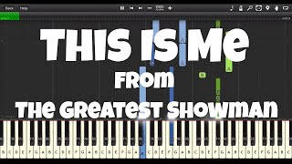 This Is Me | Greatest Showman | EASY Piano Tutorial (FREE Sheet Music and MIDI)