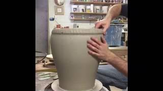 Coil Building A Big Pot At Rothshank Studio