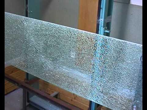 Test - skleněné zábradlí ČSN 743305