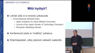 Tutkijapuheenvuoro - Arto Ojala