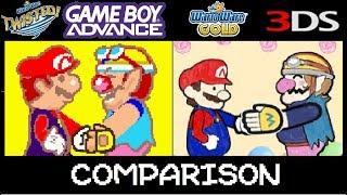 WarioWare Twisted vs WarioWare Gold Microgame comparison.