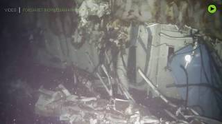 RAW: Wreck of Norwegian frigate that sank after training to 'fight' Russia