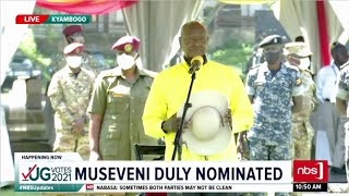 Museveni duly Nominated, M7 now a Presidential Candidate| NBS