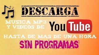 Convertidores de musica MP3 online | Musica de mas de UNA HORA