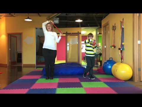 Screenshot of video: Crossing Midline exercises