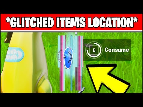 CONSUME GLITCHED FORAGED ITEMS LOCATIONS (Fortnite SEASON X Week 4 ALL GLITCHED ITEMS LOCATIONS)