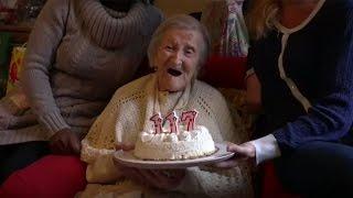 World's oldest woman celebrates her 117th birthday