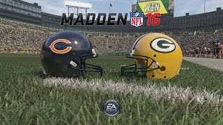 Madden NFL 16 - Oldest Rivalry In The NFL: Packers VS Bears, 1st Half (Xbox One Gameplay)