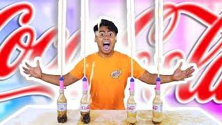 DIET COKE MENTOS GEYSER VOLCANO EXPERIMENT!