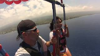 high up in Hawaii Parasailing