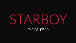 STARBOY (Piano Karaoke Instrumental) The Weeknd