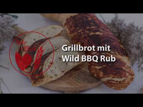 Grilled Bread with Wild BBQ Rub - How to Video (in German)