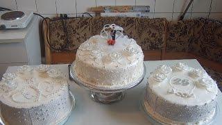 Медовый бисквит и Свадебный торт.
