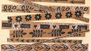 Handmade Brown Paper Tape