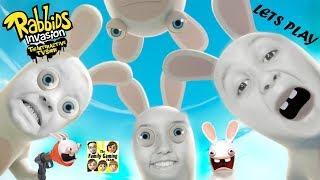 FGTEEV Kids play RABBIDS INVASION: Escalator Rabbid Episode Gameplay! (The Interactive TV Show XB1)