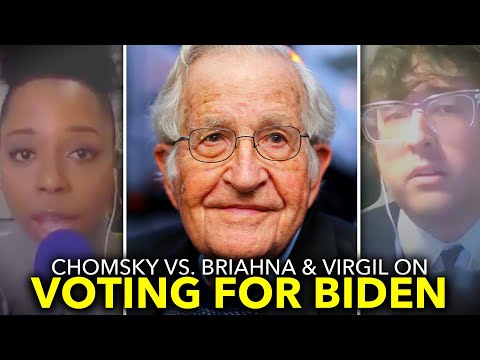 Leftists Challenge Chomsky on Voting For Biden